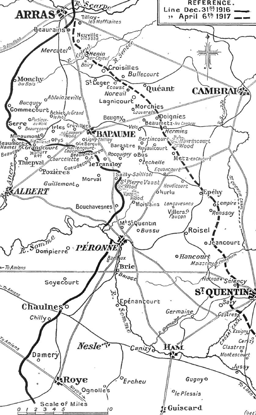Map of Bapaume